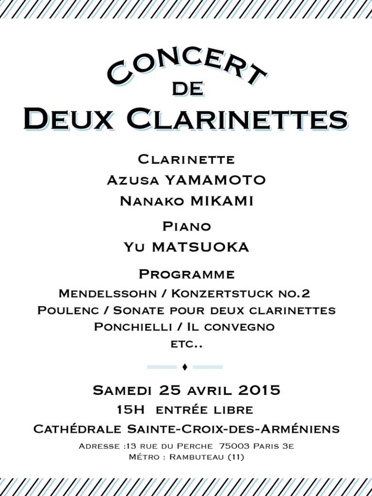 Concert de Deux Clarinettes