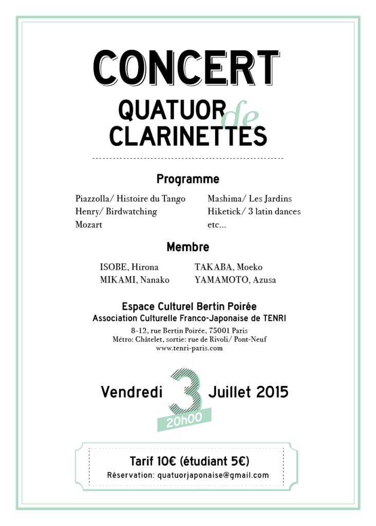 Concert: Quatuor de Clarinettes